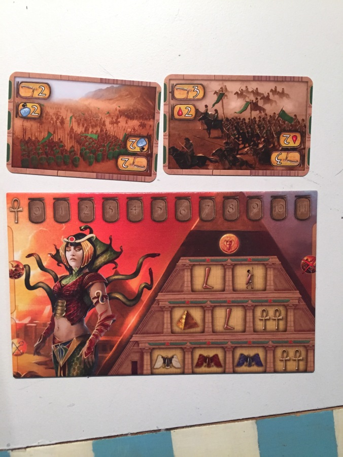 Kemet battle cards player board